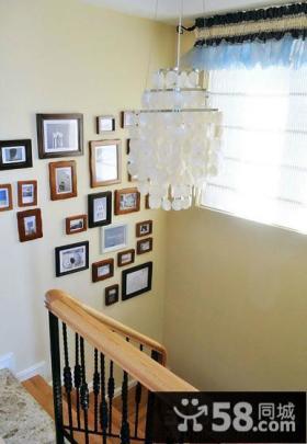 楼梯照片墙设计效果图
