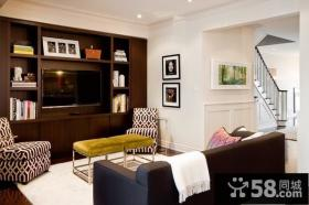 120平复式楼客厅电视背景墙装修效果图大全2012图片