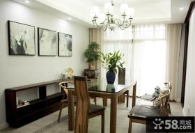 中式风格现代餐厅装饰设计效果图片