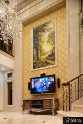 别墅客厅电视墙效果图大全