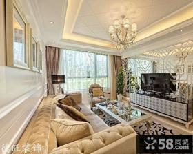 新古典欧式小户型客厅电视背景墙效果图