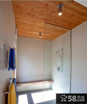 浴室桑拿板吊顶效果图