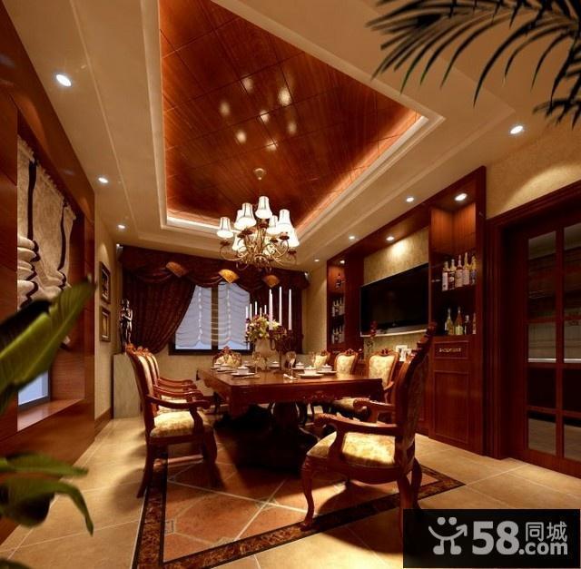 新中式风格餐厅吊顶图片图片