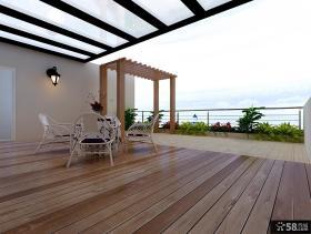 顶楼露天阳台设计实景图