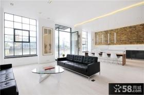 简约到极致的美式风格客厅装修效果图大全2012图片