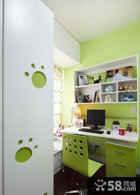 简单家庭装修小书房图片