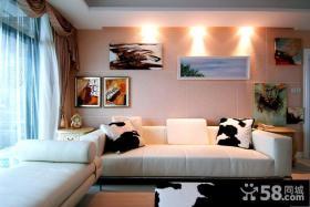 现代创意风格沙发背景墙设计