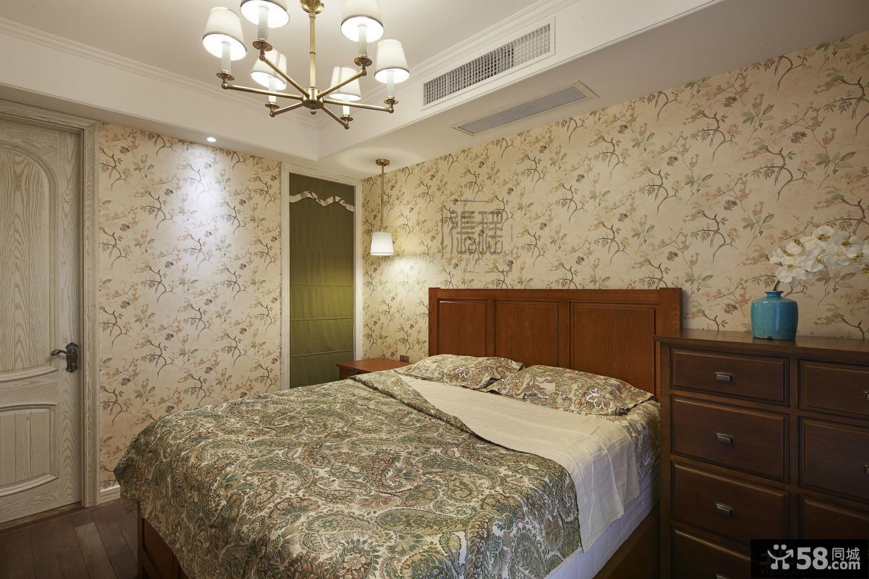 美式卧室壁纸装修效果图