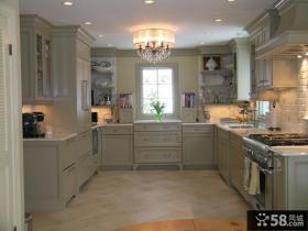 欧式古典厨房吊顶装饰图片