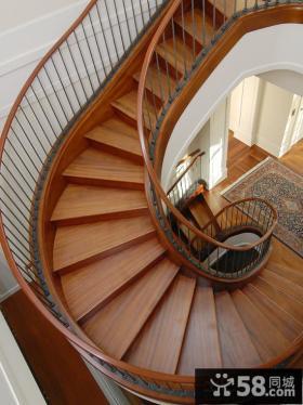 别墅室内旋转楼梯设计图