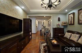 后现代设计小客厅电视背景墙图