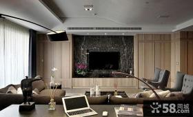 后现代风格客厅电视背景墙设计效果图