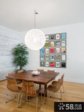 日式家装小餐厅相片墙图片大全