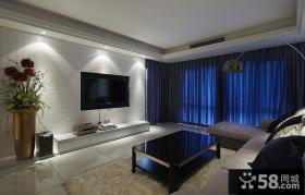 现代时尚客厅电视背景墙欣赏
