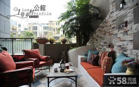 客厅休闲阳台装修效果图大全2013图片