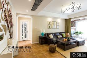 现代客厅沙发背景墙装饰画效果图大全