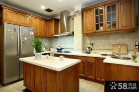 美式风格厨房整体橱柜装修效果图