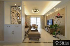 欧式风格家装客厅吊顶设计