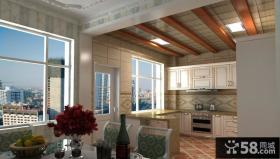 家庭开放式厨房集成吊顶贴图