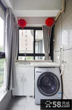 家庭阳台洗衣房效果图大全