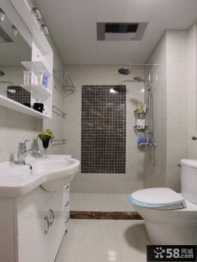 卫生间淋浴室马赛克背景墙效果图欣赏