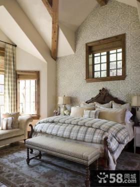 别墅卧室床头背景墙液体壁纸图片大全