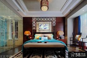 新中式风格140平米三居卧室效果图