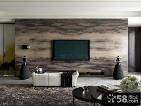 现代风格客厅电视背景墙设计图片欣赏