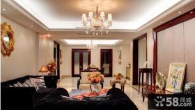 客厅餐厅一体灯饰设计效果图