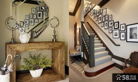 复式楼梯背景墙装修效果图大全