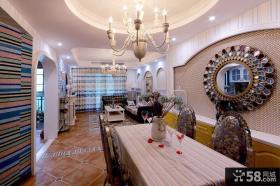 地中海设计客餐厅吊顶大全