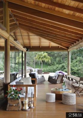 巴西水上之家别墅阳台装修效果图大全2012图片