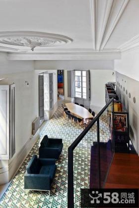 欧式复式室内大厅装修
