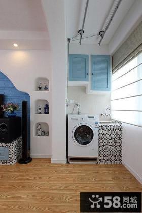 地中海风格阳台洗衣房效果图大全