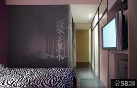 现代美式风格卧室电视背景墙图片大全
