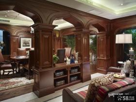 美式风格客厅实木家具图片大全2013
