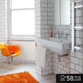 橙色格调小户型卫生间瓷砖效果图
