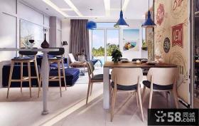 现代中式餐厅室内效果图欣赏
