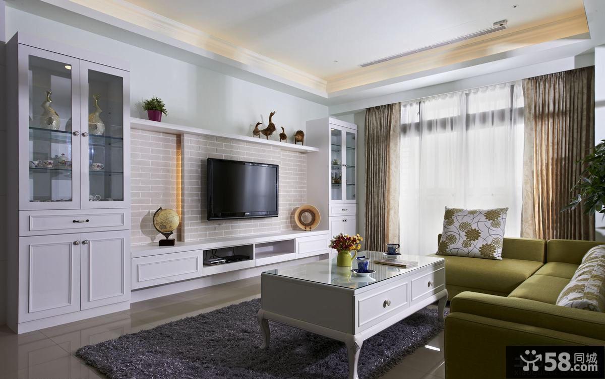 简约式家庭客厅电视背景墙装修