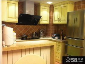 欧式风格厨房瓷砖装修效果图