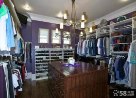 紫色唯美家装衣帽间欣赏图