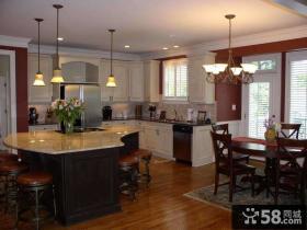 大户型一体式厨房设计图片