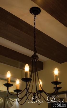 美式乡村风格灯具装饰效果图