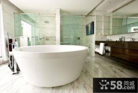 简洁干净的复式楼卫生间装修效果图大全2013图片