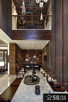 新中式别墅装修效果图大全2014图片