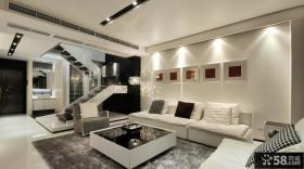 复式楼家庭客厅装修效果图