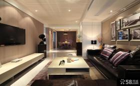 现代客厅电视背景墙装饰效果图