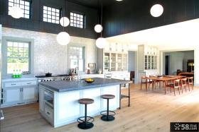 现代别墅简装厨房设计图片