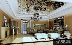 豪华别墅客厅吊顶装修效果图大全