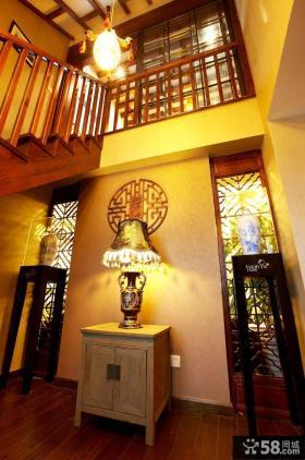 中式风格复式楼室内装饰柜效果图